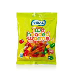 Vidal Two Headed Worms Candy (100 g)