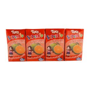 Tipco Super Kid Orange Juice (4 pcs, 125 ml)
